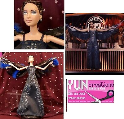 Katniss The Mockingjay ~ Hunger Games Custom Barbie OOAK Doll For Collectors