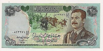 Central Bank of Iraq Twenty Five Dinars Banknote--Excellent Condition  !!
