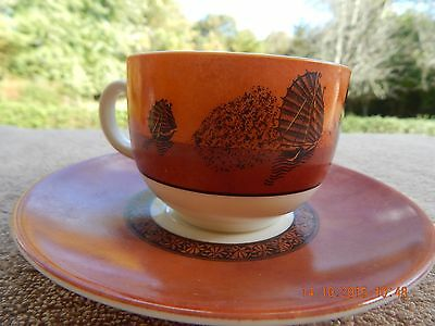 Vintage J.G. Durand France Macao Chinese Junks Tea Cup and Saucer ~ Rare