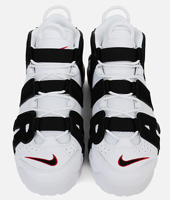 e87a5a563c8 NIKE AIR MORE Uptempo Scottie Pippen White Black Varsity Red 2017 PE ...