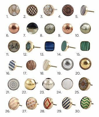Gold, Copper, Silver, Brass, Metal Cabinet Knobs | Cupboard Door Knob Draw Pulls