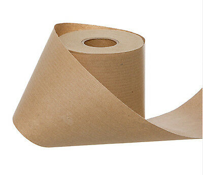 KRAFT BROWN WRAPPING PAPER GIFT BELLY BAND ROLL 10cmx60m CHRISTMAS WEDDING