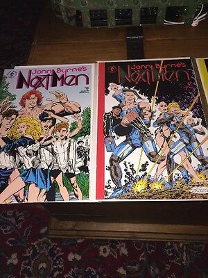 Lot Of 5 John Byrne's Next Men #0- 4 1992 Dark Horse Comics