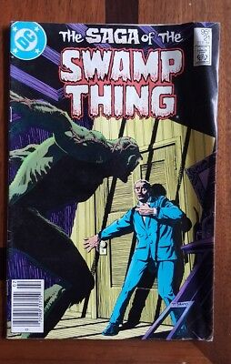 Saga Swamp Thing 21 Canadian Price Variant DC comic Alan Moore New Origin 1984