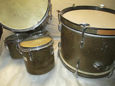 50's SONOR DRUM KIT with 3 CONCERT TOMS