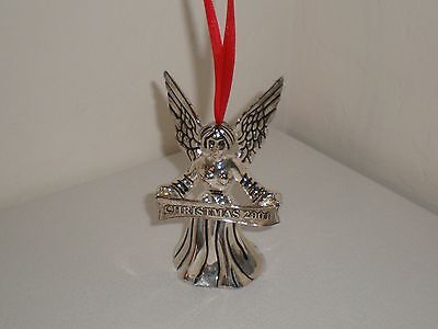 2001 Godinger Silver Plated Christmas Angel Ornament/Bell - Beautiful!