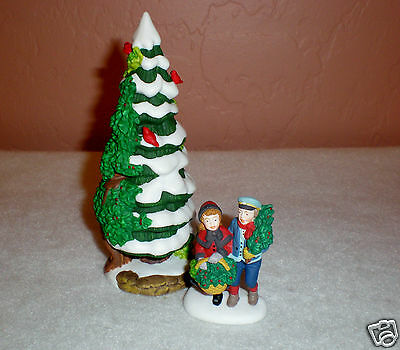 """1997 Dept 56 Heritage Village """"The Holly and the Ivy"""" 2 Event Pieces-New NO Box"""
