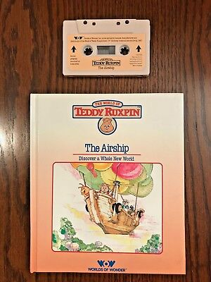 Teddy Ruxpin –The Airship Book & Cassette Tape, 1985 –Mint Condition