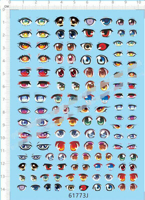 Clay Garage Kits Doll Figures EYES collections J Model Kit Water Decal
