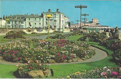 "Vintage collectible 3.5"" x 5.5"" POSTCARD Bangor gardens West Sussex UK 1977"