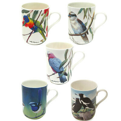5pc Maxwell and Williams Birds of Australia Coffee/Tea Mug/Cup 300ML Tableware