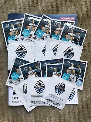 2017 Vancouver Whitecaps Stickers 20 unopened packs Pharmasave MLS