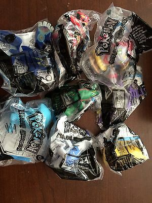 McDonald's Pokemon Happy Meal Toys Complete Set Of 8 New 2015 - Cards Removed