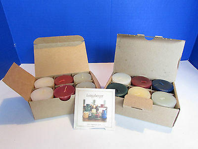 Longaberger Baskets NEW 2 Packs of Votive Candles in Boxes Sample Pack