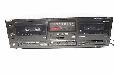 NIKKO ND 200W, stereo, full logic dual cassette deck with auto reverse. (ref139)