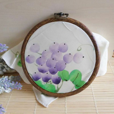 Round Oval Wooden Embroidery Cross Stitch Ring Hoop Frame of Crafts Convenient