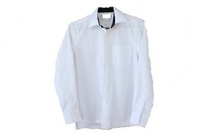 Boys Long Sleeve white shirt with Tartan collar size 08 to 26 (500 items)