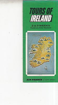 Vintage 1969 Tours of Ireland Air France Pamphlet