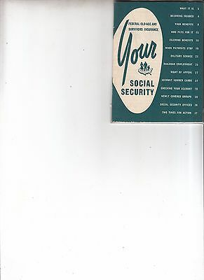 Vintage 1953 Your Social Security booklet