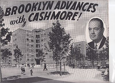Vintage 1949 Brooklyn Advances with Cashmore! Booklet