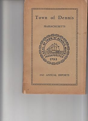 Vintage 1942 Town of Dennis Mass Annual Reports booklet