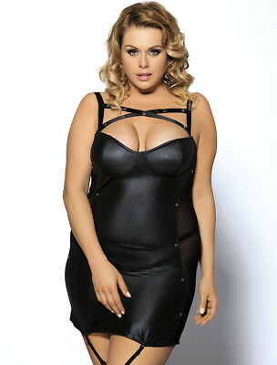 Sexy Plus Size Leather Baby Doll