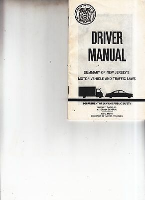 Vintage 1972 New Jersey Drivers Manual Booklet