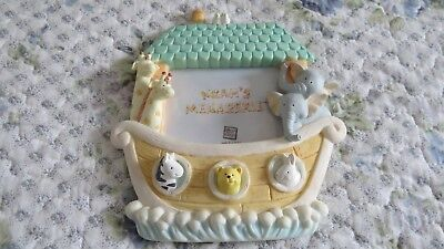Baby Picture Frame Noah's Ark by Russ SoftPastel Colors Hand Painted Item #15864