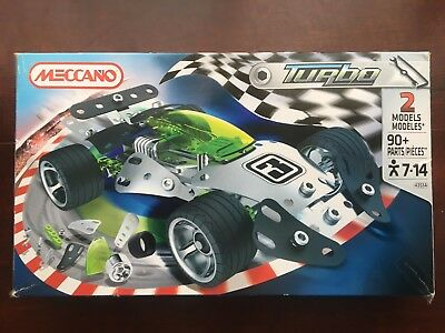 MECCANO Turbo 2 Models 90+ Pieces from 2012 ages 7-14