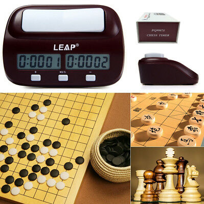 LEAP PQ9907S Digital LED Chess Clock I-go Count Up Down Timer Game Competition