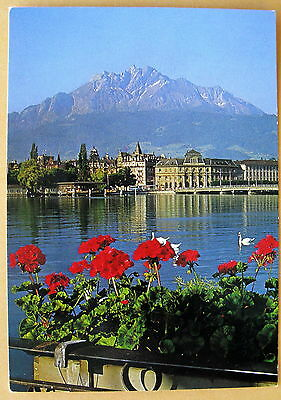 Vintage Post Card - Luzern mit Pilatus - used