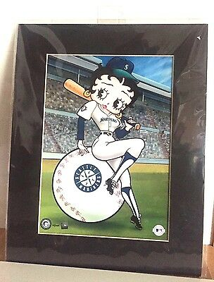 VERY RARE!-Betty Boop 2001 Toon Art Seattle Mariners 'Betty On Deck' Collectible