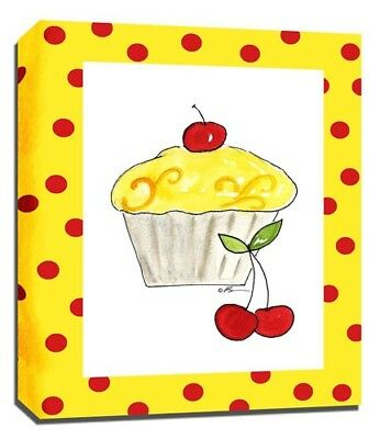 Cute Cupcake Canvas Wall Art Gallery - Wall Art Design ...