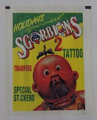 Topps Sgorbions Holiday Special 2 1990 Italian Garbage Pail Kids Unopened Pack