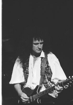 Queen, Brian May, Vintage,  Never Printed! Original 35mm film (4) images