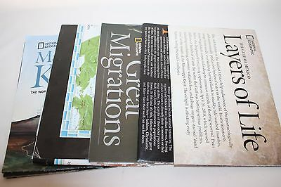 National Geographic Maps lot of Five Mauna Kea Great Migrations Middle East