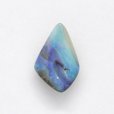 Natural Solid Boulder Opal 17.36Ct Loose Stone With Hole For Pendant Choker