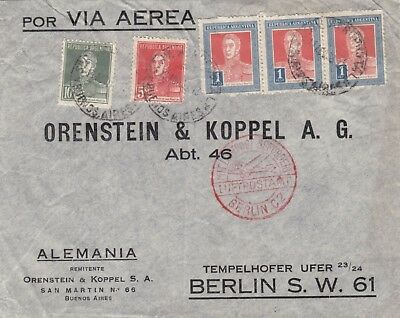 Argentina  1933  Judaica  Multi Franking Airmail Cover To Germany