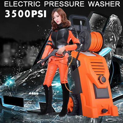3500PSI Electric High Pressure Washer Water Cleaner Gun Pump Hose Cleaning Spray