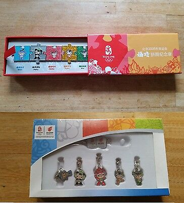 2 sets official BEIJING OLYMPICS 2008 MASCOT pins & charms
