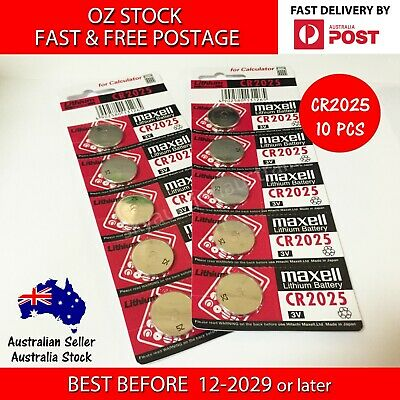 10x CR2025 3v 170mah lithium Battery button cell/coin for calculator MELB STOCK