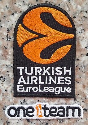 Euroleague Turkish Airlines Uleb Basketball Patch - Iron On 2016/2017/2018...