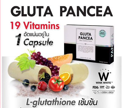 Gluta Pancea L-Glutathione For Super Whitening Concentrated White Faster Reduce
