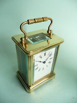 19th century French 8 day Brass Carriage Clock............................ref246