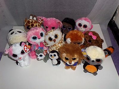 14 Mixed Beanie Boo And Yoohoo Mixed Ty Plush Toy Collection Some New