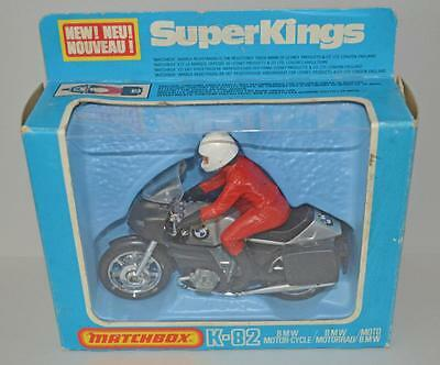 Old Matchbox K.82 Bmw Motorcycle With Rider - Boxed - 1980.