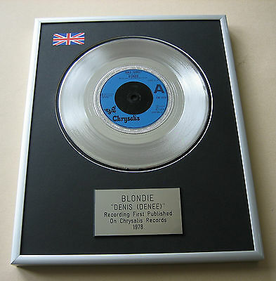 BLONDIE Denis (Denee) PLATINUM SINGLE DISC PRESENTATION