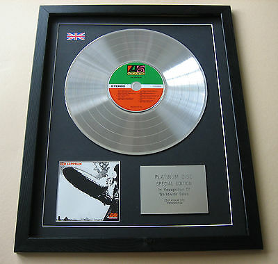 LED ZEPPELIN Led Zeppelin I CD / PLATINUM LP DISC Presentation