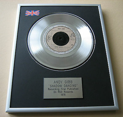 ANDY GIBB Shadow Dancing PLATINUM SINGLE DISC PRESENTATION
