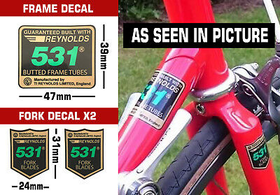 Reynolds 531 Frame & Fork Decal set